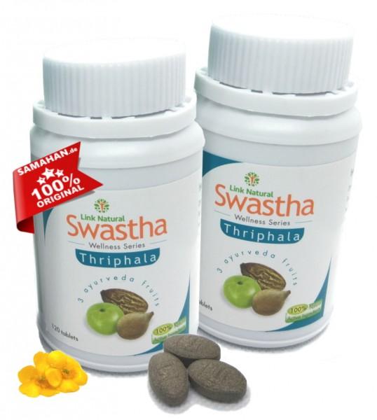 Swastha Triphala 2 x 120 Dreifrucht Tabletten