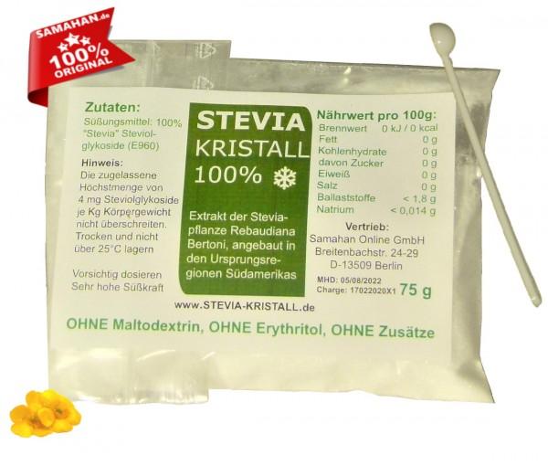 Stevia Kristall - 75g Nachfüllpack