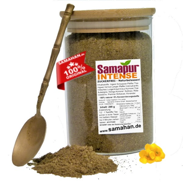 Samapur INTENSE Tee 200g Glas