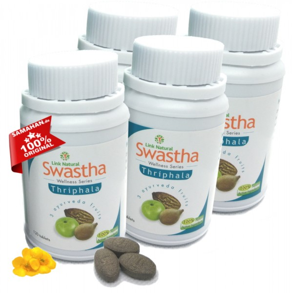 Swastha Triphala 4 x 120 Dreifrucht Tabletten